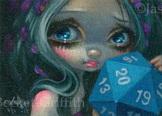 """So, after many """"requests"""" for ACEO cards, I have finally caved in. Each of my ACEO Cards are one-of-a-kind giclee canvas prints from my original paintings. Each one is hand-embellished by me, the artist - with hand painted details, signature, year created, and a numbering system that is """"1/1"""" meaning that just one single card of that image exists in the edition.   eBay!"""