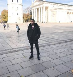 David Garrett. Beautiful day at Cathedral Square in Vilnius! Looking Forward to our concert on 7th December