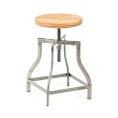 Machinist Stool / Wood Seat — Get your Flashdance on: Our Machinist Stool is modeled after a late 19th century industrial stool that was pulled from a factory in Pittsburgh, Pennsylvania.