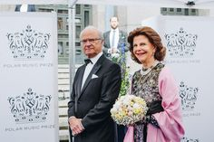 King Carl XVI Gustaf & Queen Silvia attend Polar Music Prize 2017 at Stockholm Concert Hall on June 15, 2017 in Stockholm, Sweden.