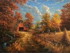 peintures abraham hunter - Page 6 Farm Paintings, Wildlife Paintings, Wildlife Art, Dream Pictures, Fall Pictures, Pictures To Paint, Landscape Art, Landscape Paintings, Landscape Photography