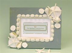 sea shell decor - picture frame, nice DIY