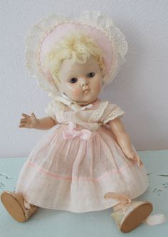 Vogue Strung Ginny Doll Transitional ~Caracul Wig ~ Very Early Doll #Vogue