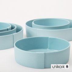 Pi Bjørg - Keramik håndlavet bandbowl skål, lyseblå (stor)