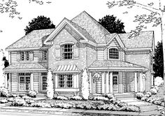 House Colouring Pages, 3 Car Garage, Best House Plans, Traditional House, Square Feet, Baths, Floor Plans, How To Plan, Bedroom