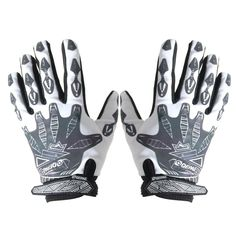 Cycling Gloves Padded Full Finger Reflective Mountain Bike Mittens White M * You can get additional details at the image link.