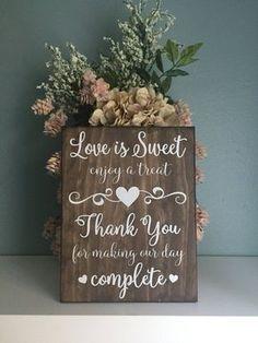 Cricut Wedding, Diy Wedding, Fall Wedding, Wedding Desert Table, Wedding Ideas, Wedding Tables, Outdoor Wedding Decorations, Outdoor Weddings, Wood Wedding Signs