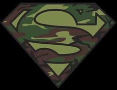 Camo Superman Logo Chest | Camo Superman Logo