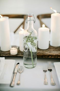 Water Bottle Table Number | photography by http://www.kristynhogan.com