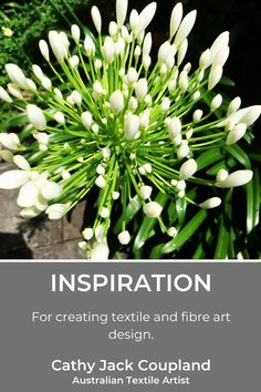 Nature and inspiration go hand-in-hand for textile and fibreart design. #ideas #inspiration #textileart #fibreart #design
