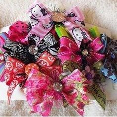 How to Make Hair Bows for Little Girls  Great tutorials on how to make bows. Several different kinds with video tutorials