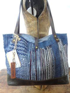 Hey, I found this really awesome Etsy listing at https://www.etsy.com/listing/244622297/hmong-tote-bag-purse-indigo-batik