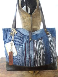 Hey, I found this really awesome Etsy listing at https://www.etsy.com/listing/244622297/hmong-tote-bag-purse-indigo-batik
