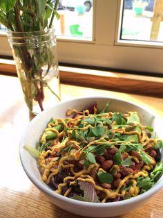 Ezra's Enlightened Cafe - Indianapolis, IN. Nacho mama bean bowl