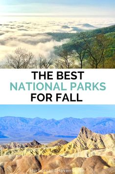 The best national parks for fall feature stunning mountains, colorful forests and the perfect weather for hiking. Discover national parks with fewer crowds in fall using this list of fall travel ideas. #nationalparkvacation #fallnationalparks | fall travel ideas USA | national parks in fall | fall vacation ideas | fall destinations USA | death valley national park fall | shenandoah national park fall Fall Vacations, Vacation Destinations, Fall Travel Wardrobe, Shenandoah National Park, Death Valley National Park, National Parks Usa, Where To Go, Art, Art Background