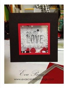 """Eva's cards and things Layered Window Sheet """"Love"""" Card"""