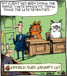 #Garfield makes an appearance in Reality Check! GoComics.com #humor #comics