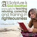 ALL Scripture is God-breathed and useful for teaching, rebuilding, correcting and training in righteousness.  2 Timothy 2:16.  The holy bible was not written by mere men, it was written by men filled with the Holy Spirit who were hand-picked by God.