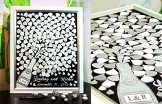 3D Guest book White Silver Sign guest book Wedding guest book