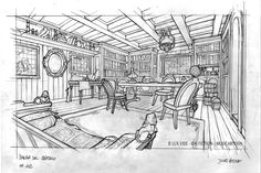The Extraordinary Adventures of Jules Verne on Behance Environment Concept Art, Environment Design, Jules Verne, Scenic Design, Layout Design, Line Art, Art Reference, Art Projects, Sketches
