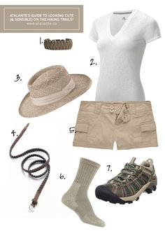 cute and sensible hiking outfit... remember this for next time Grace lol
