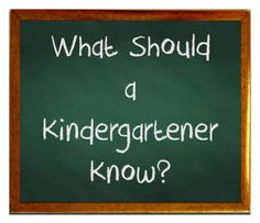 What your kindergartener needs to know to succeed in the first year of school.  Great resource including Kindergarten Curriculum Overview by Subject and a list of sight words.