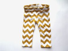 Chevron Leggings in Purple, Coral, or Mustard, Cotton Blend Leggings NB- 4T, Infant and Toddler Pants