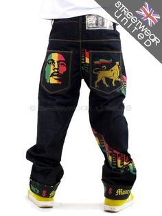 Man Jeans, Denim Jeans Men, Gents Fashion, Male Fashion, Rasta Pictures, Gents Style, Jamaica Flag, Men Shorts, Hip Hop Fashion