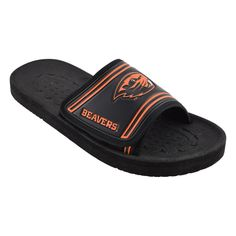 NCAA Boys' Slide Sandal - Oregon State Beavers, Medium, Black