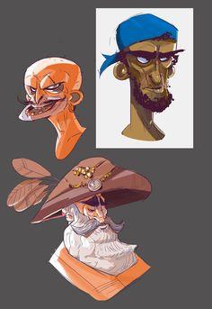 Character design - Animation- Pirates- Cartoon