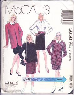 McCall's 5658 Women's Sewing Pattern Unlined by Sutlerssundries Like the jacket