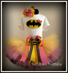 Bat Girl Batman tutu set- Perfect for costume or birthdays