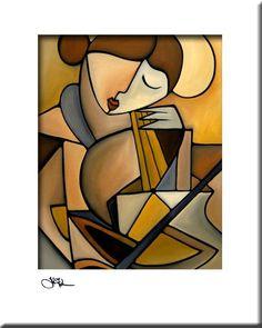 Espressivo - Original Abstract painting Modern pop Art print Contemporary colorful portrait face music cello decor by Fidostudio Modern Pop Art, Modern Prints, Art Prints, Pop Art Collage, Contemporary Abstract Art, Contemporary Decor, Contemporary Stairs, Contemporary Cottage, Contemporary Wallpaper
