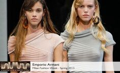 Emporio Armani Spring 2013 collection #BelleMonde #Fashion #MilanFashionWeekSpring2013