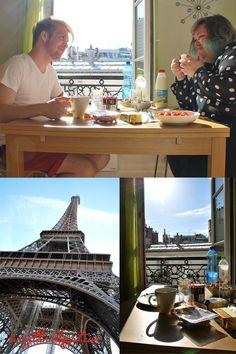 Frühstück mit Blick über Paris