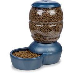 "Petmate Blue Replendish Pet Auto-Feeding System Large 17.2"" L X 10.9"" W X 17.7""…"