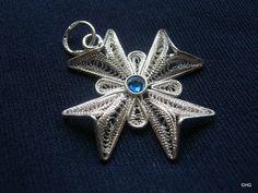 Handmade Sterling Silver Maltese Cross Filigree Pendant by TrulyFiligree