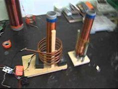 Wireless power transmission using Tesla coils