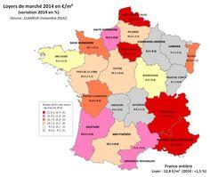 #Immobilier #France : la variation des #loyers selon les zones géographiques !