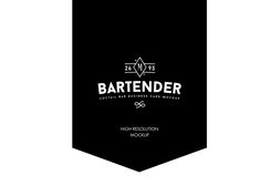 BARTENDER: classic cocktail bar business card mockup on Behance