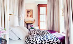 There's no other pattern that's associated with glamour more than leopard print.  #glamorous #animal #print #bedroom
