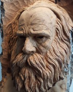 Here is another scary face to look at. I carved this in cottonwood bark with gouges, knives, and sandpaper.