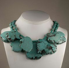 Fashion Jewelry    Chunky Turquoise Magnesite by magsanddenny, $65.00