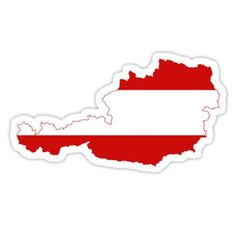'Austria Flag Map' Sticker by limitlezz Tumblr Stickers, Aesthetic Stickers, Craft Activities, Spring Break, Decorative Throw Pillows, Stationery, Flag, Vienna, Ministry