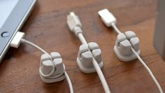Cordlets Cable Anchors in White. I'm OCD enough to really want these for various gadgets. :)