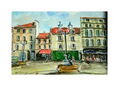 Le village Saint Michel à Bordeaux......la plus belle ville du monde.!!!!!! : Peintures par aquarelles-dupicard