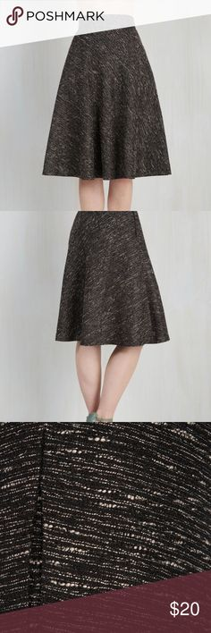 ModCloth circle skirt in sparkle tweed Perfect condition! Reposhing bc it's sadly too small for me. Modcloth Skirts