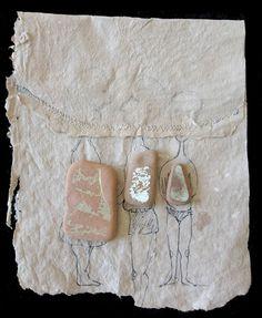 I cancellati, Fernanda Menendez. Handmade paper and Eolic's traces