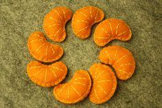 Yummy Felt Orange Slices Set of 8 by TobyMaMa on Etsy
