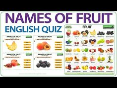 English Vocabulary - YouTube English Websites, Free English Lessons, Learn English For Free, English Speaking Skills, Learn English Grammar, English Vocabulary Words, English Quiz, English English, Fruits And Vegetables Names